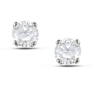 Miadora 14k White Gold 3/4ct TDW Certified Diamond Solitaire Earrings