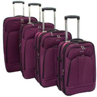 Kemyer 4 Piece Expandable Upright Luggage Set   Purple