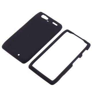 Black Rubber Coated Case for Motorola Droid RAZR Maxx XT916