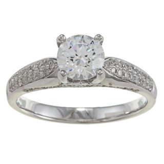14k White Gold CZ and 1/3ct TDW Diamond Ring (G H, VS1 VS2) Today $