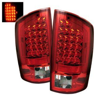 Dodge Ram 1500/2500/3500 2007 2008 LED Tail Lights   Red Clear
