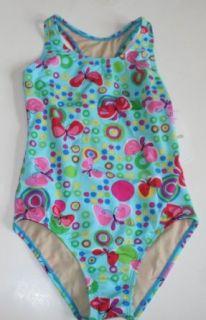 Speedo Girls One Piece Swimsuit 78Z231   Aqua/Butterfly