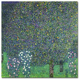 Gustav Klimt Roses Under the Trees, 1905 Canvas Art
