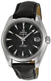 Omega Mens 231.13.39.21.06.001 Black Dial Seamaster Aqua Terra Watch