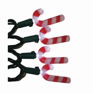 Light Set 20 LED Candy Cane Lights