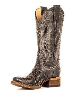 Corral Womens Vintage Black Python Inlay Boot   A2402 Shoes