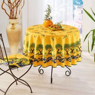 180   Achat / Vente NAPPE DE TABLE Nappe Olivier jaune diam 180