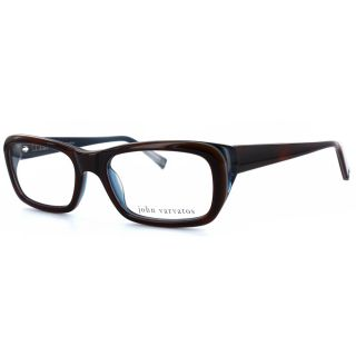 John Varvatos Mens V329 Amber/Navy Optical Frames