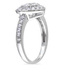 Miadora Sterling Silver White Sapphire Heart Ring