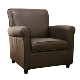 Anderson Espresso Brown Full Bi cast Leather Club Chair