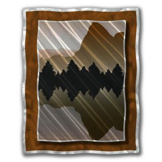 Ash Carl Lakeside Mountains Metal Wall Art
