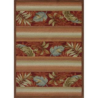 Hand hooked Country Red Rug (36 x 56)