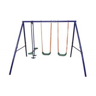 Portique balancoire double pour enfant   Achat / Vente BALANCOIRE