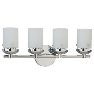 Sea Gull Lighting Four Light Chrome Wall/ Bath Light Fixture Today $