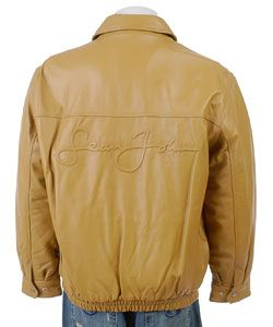 Sean John Mens Signature Leather Jacket