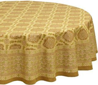Mahogany Sultan Printed 70 Inch Round Cotton Tablecloth