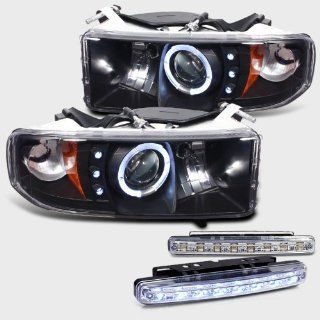 1994 2001 DODGE RAM 1500 HALO PROJECTOR LED HEADLIGHTS + 8 LED FOG