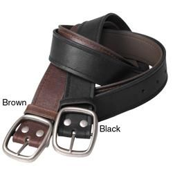 Boston Traveler Mens Topstitched Leather Belt