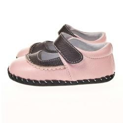 Little Blue Lamb Infant/ Toddler Hand stitched Pink Leather Walking