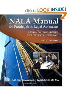 NALA Manual for Paralegals and Legal Assisans