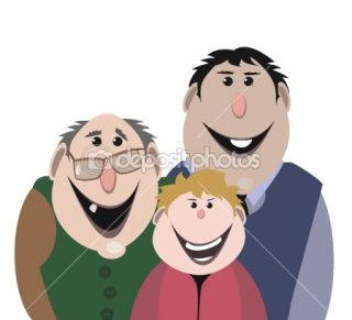 Cartoon portrait  Stock Vector © sergey chernov #1274215