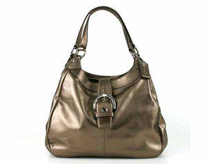 Coach Soho Leather Lynn Large Hobo Tote Handbag Purse
