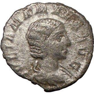 JULIA MAMAEA 222AD Rare Ancient Silver Roman Coin JUNO mother of Mars