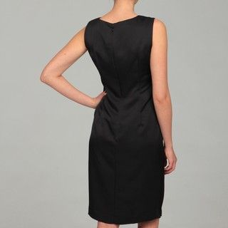 Jones New York Womens Black Ruched Dress