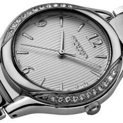 Akribos XXIV Womens Swiss Quartz Stainless Steel Crystal Watch