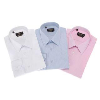TORRENTE COUTURE 3 Chemises Auriol/Carnot/Doumer Bleu ciel et blanc