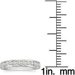 10k White Gold 1/2ct TDW Diamond Wedding Band (J K, I2 I3)