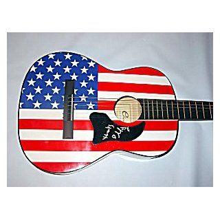MINDY SMITH Autographed Signed USA FLAG Guitar UACC