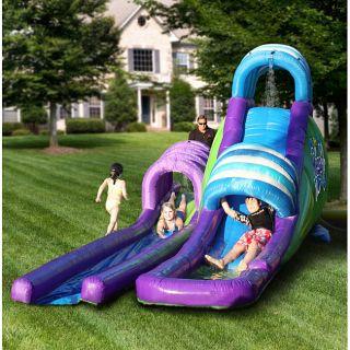 KidWise Dual Mega Inflatable Water Slide