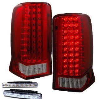 2002 2006 CADILLAC ESCALADE REAR BRAKE TAIL LIGHTS RED/CLEAR+LED