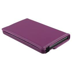 Purple 360 degree Swivel Leather Case Version 2 for  Kindle Fire