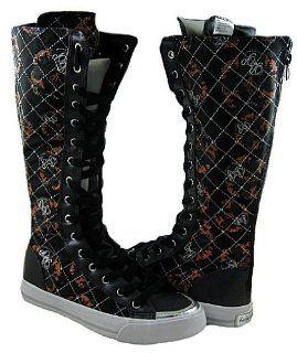 Womens Monamour Black Orange Silver Boots Shoes US Size 7.5 Shoes