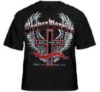 Prayer Warrior Religious Biker Shirt (B#232) Clothing
