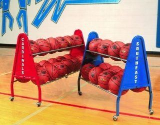 Bison 12 Ball Heavy Duty Basketball Ball Caddy Sports