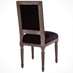 Dark Grey Weathered Oak Dining Chairs (Set of 2)