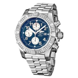 Breitling Mens Super Avenger Stainless Steel Chronograph Watch