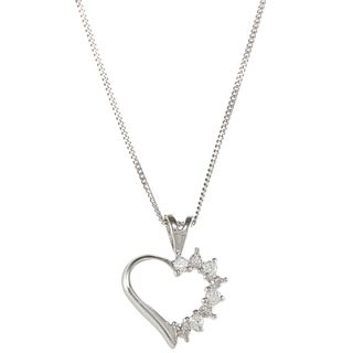 Sunstone 925 Sterling Silver Heart Necklace Made with SWAROVSKI