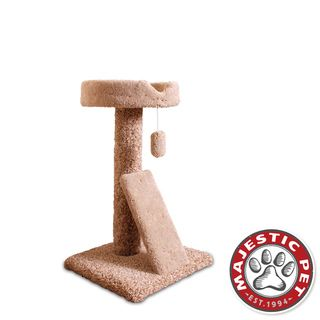 Majestic Pet 30 inch Carpeted Ramp Claw Bed Cat Tree