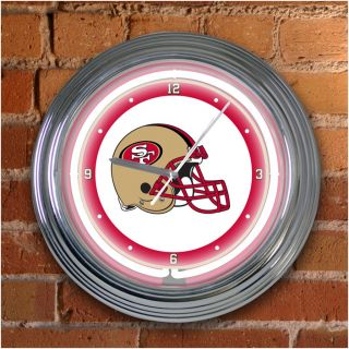 San Francisco 49ers 15 inch Neon Clock