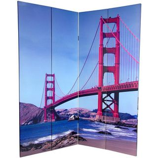 Canvas Double sided 6 foo Bridges Room Divider (China)