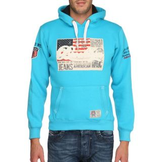 GANGSTER UNIT Sweat Francisco Homme Turquoise Turquoise   Achat