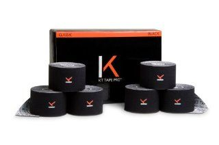Tape, Team Pack   Six 240 Inch Pre Cut Rolls, Black Sports & Outdoors