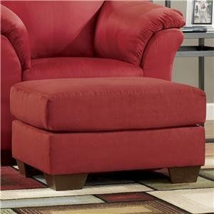 Darcy Salsa Red Ottoman by Famous Brand