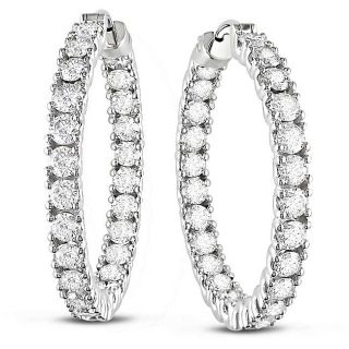 14k White Gold 6ct TDW Diamond Earrings (G H, SI1 SI2)