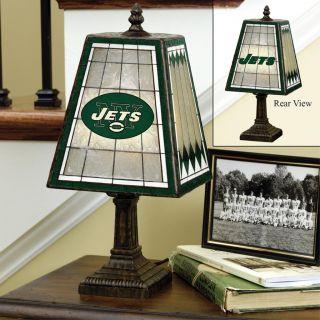 New York Jets 14 inch Art Glass Lamp