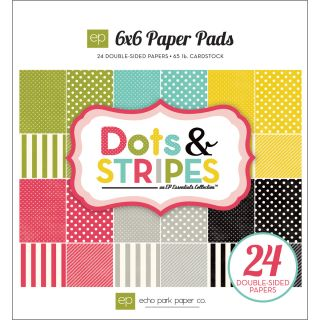 Dots & Stripes Soda Fountain 6x6 inch Cardstock Paper Pad